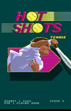 Hot Shots Tennis (ARC)  © Strata 1991   1/3