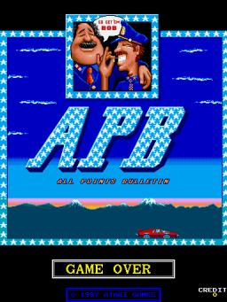A.P.B. (ARC)  © Atari Games 1987   1/3
