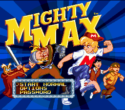 The Adventures Of Mighty Max (SMD)   © Ocean 1994    1/3