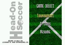 Fever Pitch Soccer (SMD)  © U.S. Gold 1995   1/3