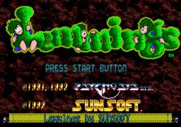 Lemmings (SMD)  © SunSoft 1992   1/4