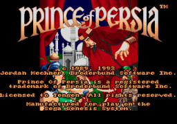 Prince Of Persia (SMD)  © Domark 1993   1/3