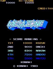 Mega Zone (ARC)   © Konami 1983    1/3