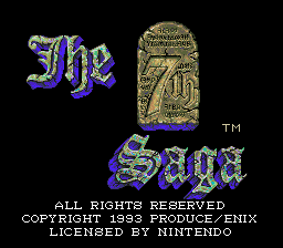 The 7th Saga (SNES)  © Enix 1993   1/3