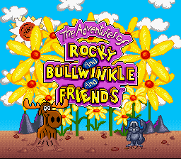 The Adventures Of Rocky & Bullwinkle And Friends (SNES)  © THQ 1993   1/3