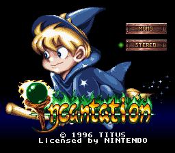 Incantation (SNES)  © Titus 1996   1/3