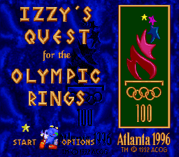Izzy's Quest For The Olympic Rings (SNES)  © U.S. Gold 1994   1/3