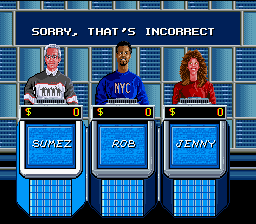 Jeopardy! (SNES)   © GameTek 1992    3/3