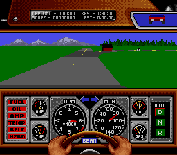 Race Drivin' (SNES)  © THQ 1992   2/3
