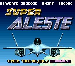 Super Aleste (SNES)  © TOHO 1992   1/17