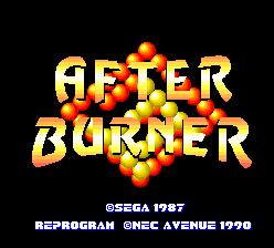 After Burner II (PCE)  © NEC 1990   1/5