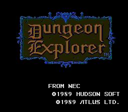 Dungeon Explorer (PCE)  © Hudson 1989   1/3
