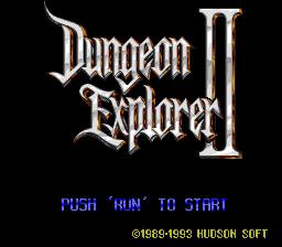 Dungeon Explorer II (PCCD)  © Hudson 1993   1/6