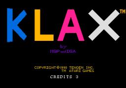 Klax (PCE)  © Tengen 1990   1/2