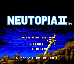 Neutopia II (PCE)  © Hudson 1991   1/3