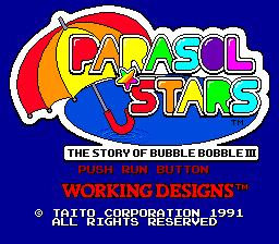 Parasol Stars (PCE)  © Taito 1991   1/8