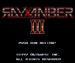 Rayxanber III (PCCD)  © DataWest 1992   1/6