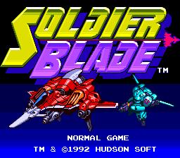 Soldier Blade (PCE)  © Hudson 1992   1/3