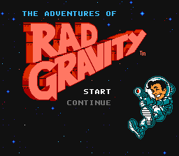 The Adventures Of Rad Gravity (NES)   © Activision 1990    1/3