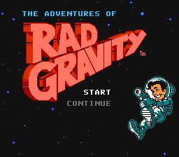 The Adventures Of Rad Gravity (NES)  © Activision 1990   1/3