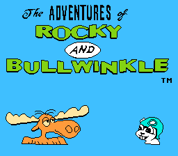 The Adventures Of Rocky & Bullwinkle And Friends (NES)   © THQ 1992    1/3
