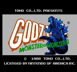 Godzilla: Monster Of Monsters! (NES)  © TOHO 1988   1/3