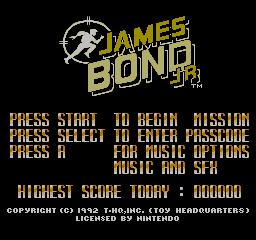 James Bond Jr. (NES)  © THQ 1992   1/3