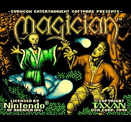 Magician (NES)  © Taxan 1991   1/3
