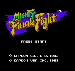 Mighty Final Fight (NES)  © Capcom 1993   1/3