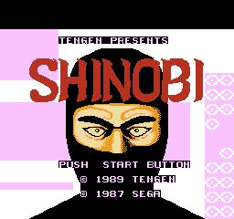 Shinobi (NES)  © Tengen 1989   1/3