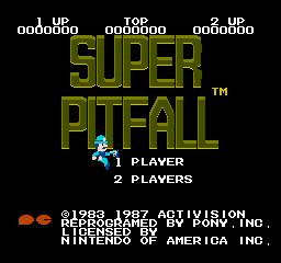 Super Pitfall (NES)  © Activision 1986   1/3