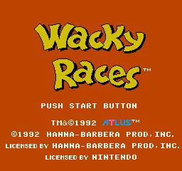 Wacky Races (NES)  © Atlus 1991   1/3