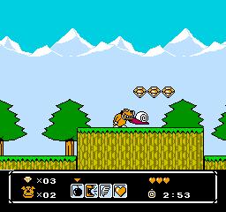 Wacky Races (NES)  © Atlus 1991   2/3