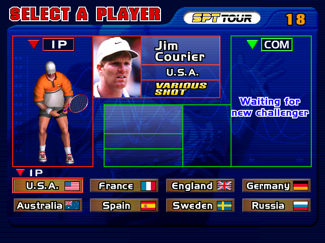 Virtua Tennis  © Sega 1999  (ARC)   4/4