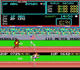 Track & Field (ARC)  © Konami 1983   2/3
