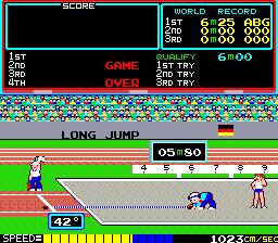 Track & Field (ARC)  © Konami 1983   3/3