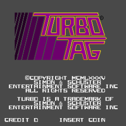 Turbo Tag (ARC)  © Bally Midway 1985   1/3