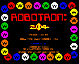 Robotron: 2084 (ARC)   © Williams 1982    1/3