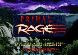 Primal Rage (ARC)  © Atari Games 1994   1/6