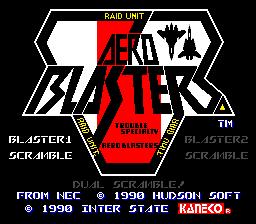Aero Blasters (PCE)  ©  1990   1/3