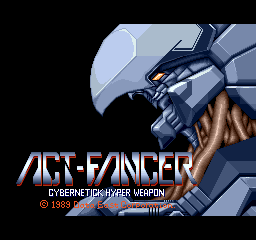 Act-Fancer: Cybernetic Hyper Weapon (ARC)   © Data East 1989    1/5