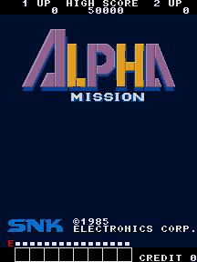 Alpha Mission (ARC)  © SNK 1985   1/8