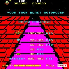 Astro Fantasia (ARC)  © Data East 1981   1/3