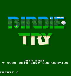 Birdie Try (ARC)  © Data East 1988   1/3
