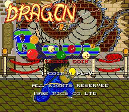 Dragon Bowl (ARC)  ©  1992   1/3