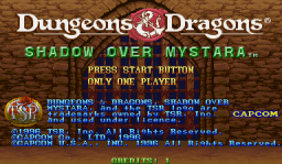 Dungeons & Dragons: Shadow Over Mystara (ARC)  © Capcom 1996   1/23