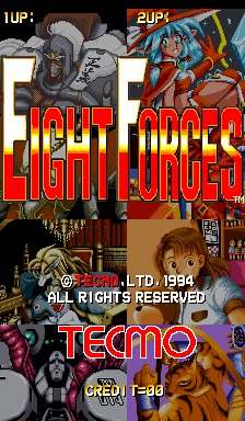 Eight Forces (ARC)  © Tecmo 1994   1/3