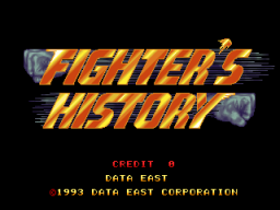 Fighter's History (ARC)  © Data East 1993   1/4