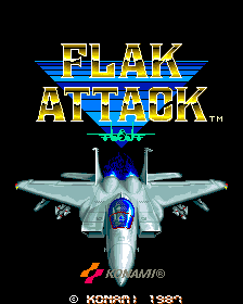Flak Attack (ARC)   © Konami 1987    1/6