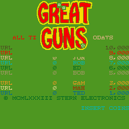 Great Guns (ARC)   © Stern 1983    1/3